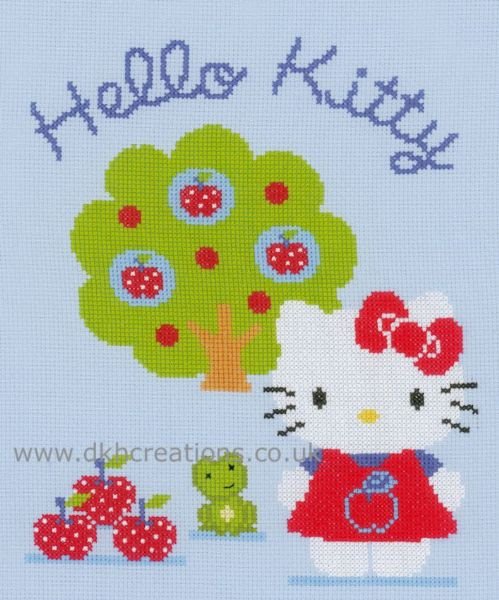 Hello Kitty And Apple Tree Cross Stitch Kit